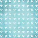 Seamless heart shape texture on grunge background Stock Photo