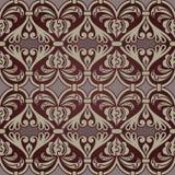 Seamless heart shaped wallpaper. Royalty Free Stock Photos