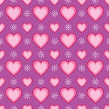 Seamless Heart and Snowflake Pattern Royalty Free Stock Photography