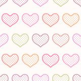 Seamless heart textured background Royalty Free Stock Photo