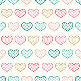 Seamless heart textured pattern Stock Photos
