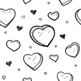 Seamless heart Valentines Day background Royalty Free Stock Photography