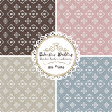 Seamless heart vector wedding and valentine background set with frame Royalty Free Stock Images