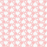 Seamless hearted pattern. Cute seamless hearted pink pattern Royalty Free Stock Photography