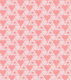 Seamless hearted patterns. Cute seamless hearted pink pattern Royalty Free Stock Images