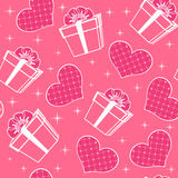 Seamless with hearts. Stock Images