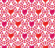 Seamless of Hearts Royalty Free Stock Images
