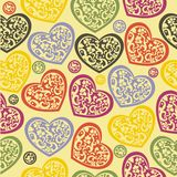 Seamless Hearts Stock Images