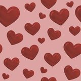 Seamless hearts Stock Photography