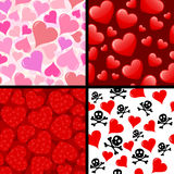 Seamless hearts Royalty Free Stock Image