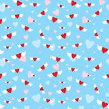 Seamless with hearts Stock Photography