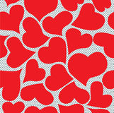 Seamless hearts Royalty Free Stock Image