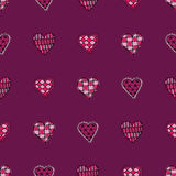 Seamless hearts background Royalty Free Stock Photo
