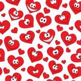 Seamless hearts background Stock Photos