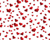 Seamless hearts background Stock Photography