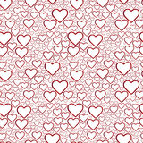 Seamless hearts background Royalty Free Stock Image
