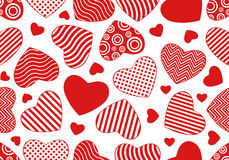 Seamless hearts background. Isolated on white Stock Photography