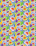 Seamless Hearts Background Pattern Stock Photography