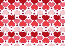 Seamless hearts background in red. A background composition of hearts in red Royalty Free Stock Photography