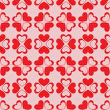 Seamless hearts background Royalty Free Stock Photos