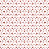 Seamless hearts background Stock Photo