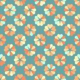 Seamless hearts circle pattern, retro color. Vector illustration Stock Photo