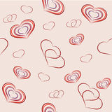 Seamless with hearts on the feast of St. Valentine's Day Royalty Free Stock Photo