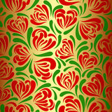 Seamless hearts-flowers background. Stock Images