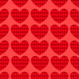 Seamless hearts pattern 1. Stock Images