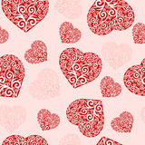 seamless hearts pattern. Stock Photos