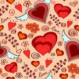 Seamless hearts pattern Royalty Free Stock Photo