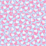 Seamless hearts pattern. Seamless vector wallpaper pattern with hearts Stock Photo