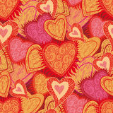 Seamless hearts pattern Royalty Free Stock Photography