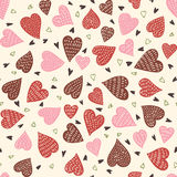 Seamless Hearts Pattern Royalty Free Stock Images