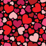 Seamless hearts pattern background Stock Photo
