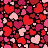 Seamless hearts pattern background stock photo