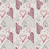 Seamless hearts pattern background Stock Photography