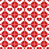 Seamless hearts pattern Stock Image