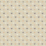 Seamless hearts pattern on paper texture. Royalty Free Stock Photography