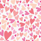 Seamless hearts pattern. Royalty Free Stock Image