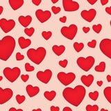 Seamless hearts Stock Photos