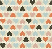 Seamless hearts pattern Royalty Free Stock Photos