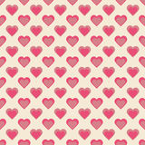 Seamless hearts pattern retro texture, hearts background, valent Stock Images