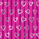 Seamless hearts Pattern. Valentines day background. Abstract Background. Chains of hearts. 14 February love seamless pattern. Garlands of hearts. Vector Stock Illustration