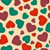 Seamless hearts Royalty Free Stock Photography