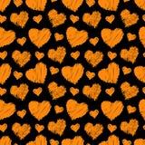 Seamless hearts pattern stock illustration