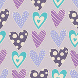 Seamless hearts pattern Royalty Free Stock Photo