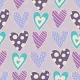 Seamless hearts pattern vector illustration
