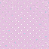 Seamless hearts pattern Stock Photography