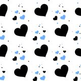 Seamless hearts pattern. Vector repeating texture. Eps 10 royalty free illustration